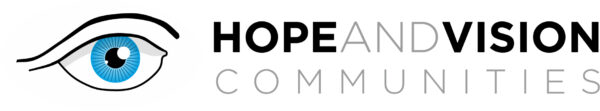 The logo of Hope and Vision Communities Charity