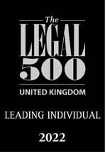 Leading Individual Legal 500 - 2022